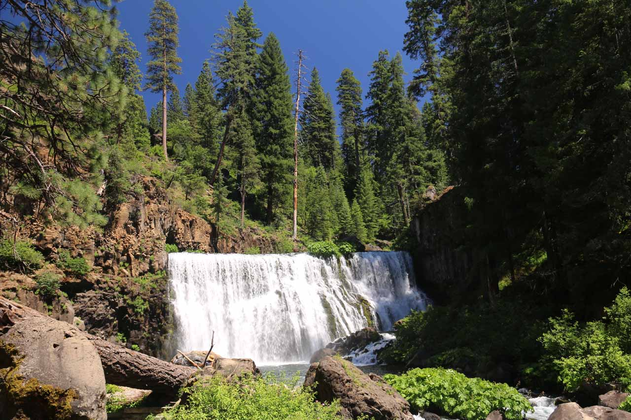 This was our first look at the Middle McCloud Falls after nearly a mile of hiking without seeing a legitimate waterfall