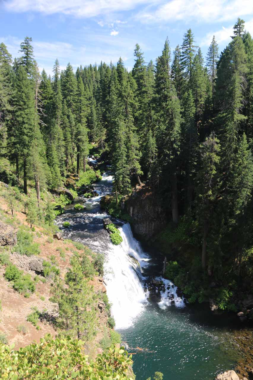 This was the view from the overlook looking down at the Middle McCloud Falls