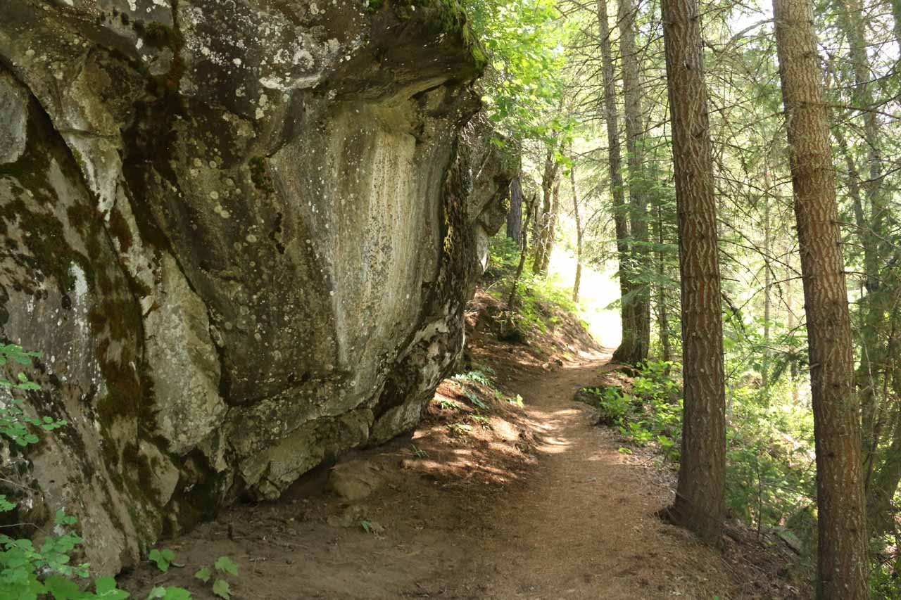 The trail went by some interesting rock formations like this one