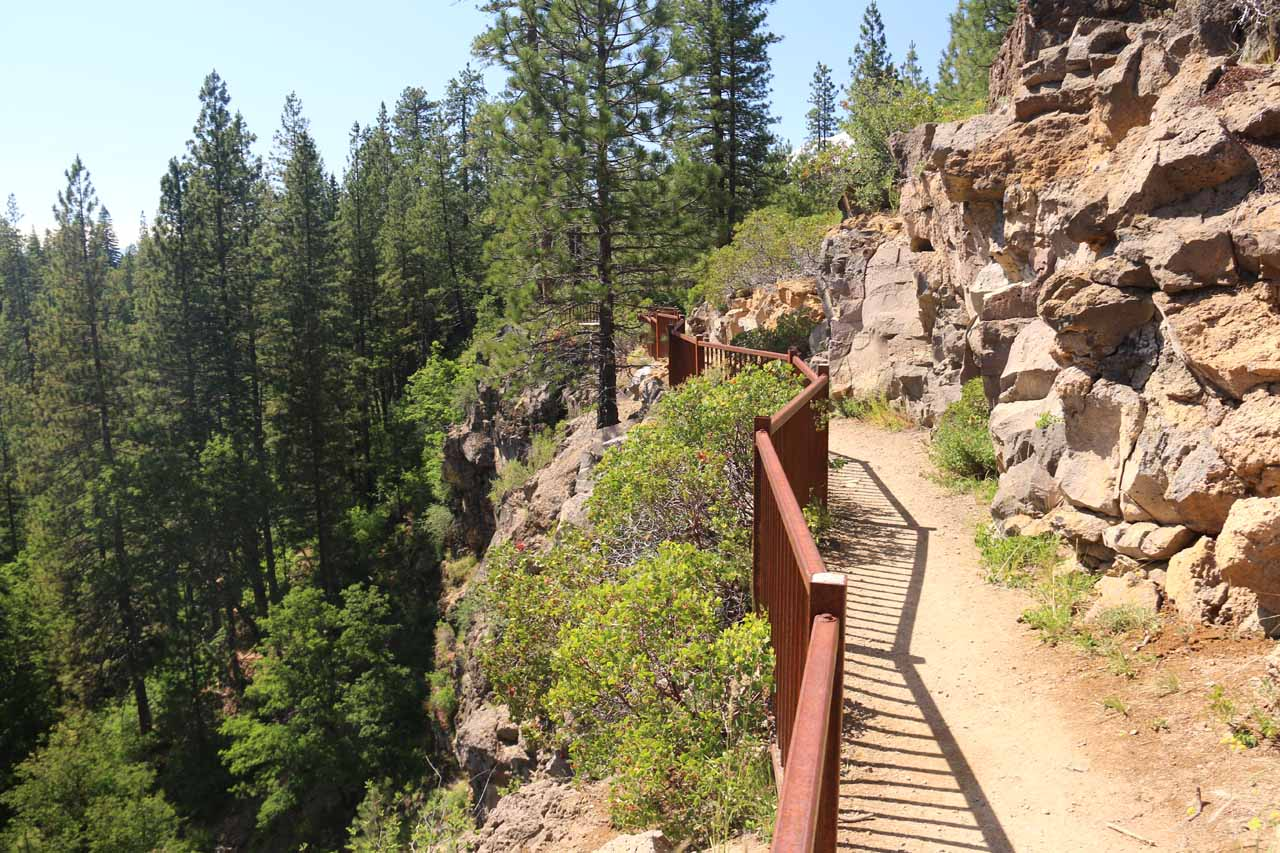 Another look back along the cliffs overlooking the Middle McCloud Falls