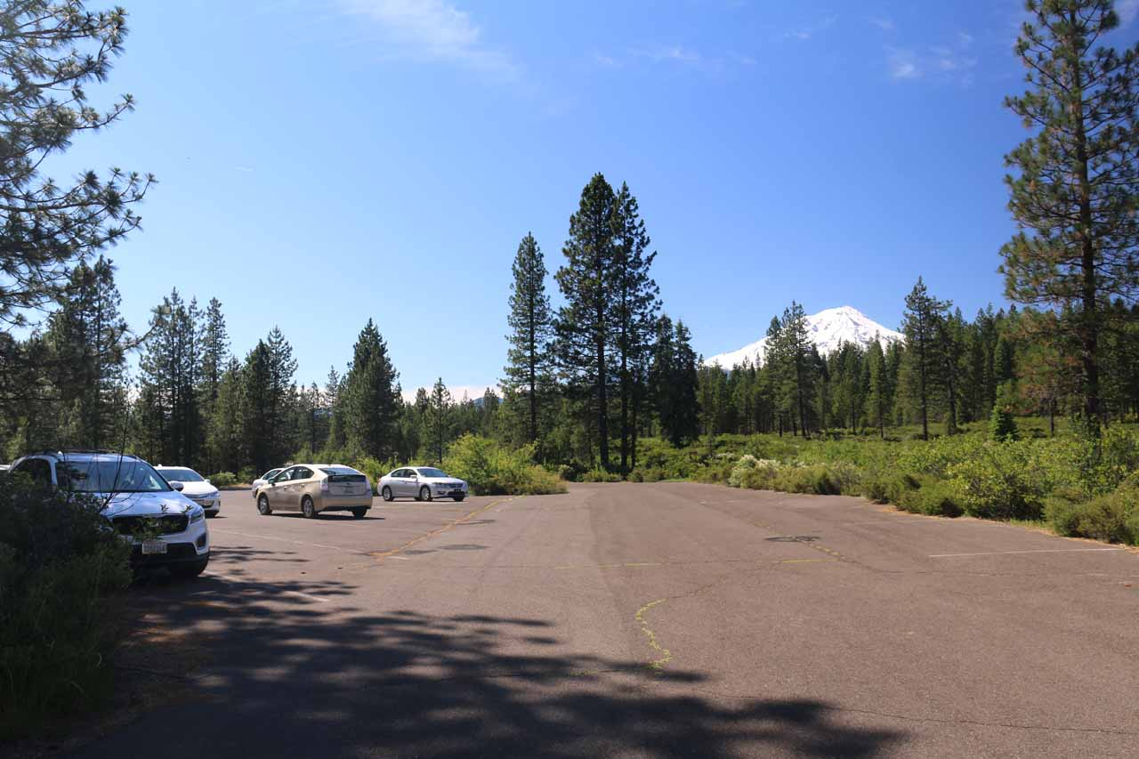Trying to improve my view of Mt Shasta, I briefly walked to the parking lot for the Middle Falls