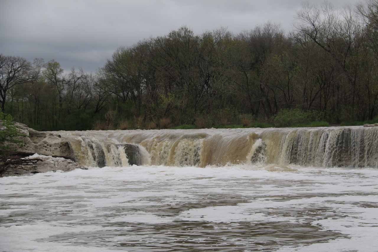 Closer look at the expanse of the Lower McKinney Falls