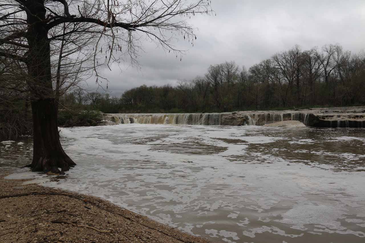 The Lower McKinney Falls in high flow