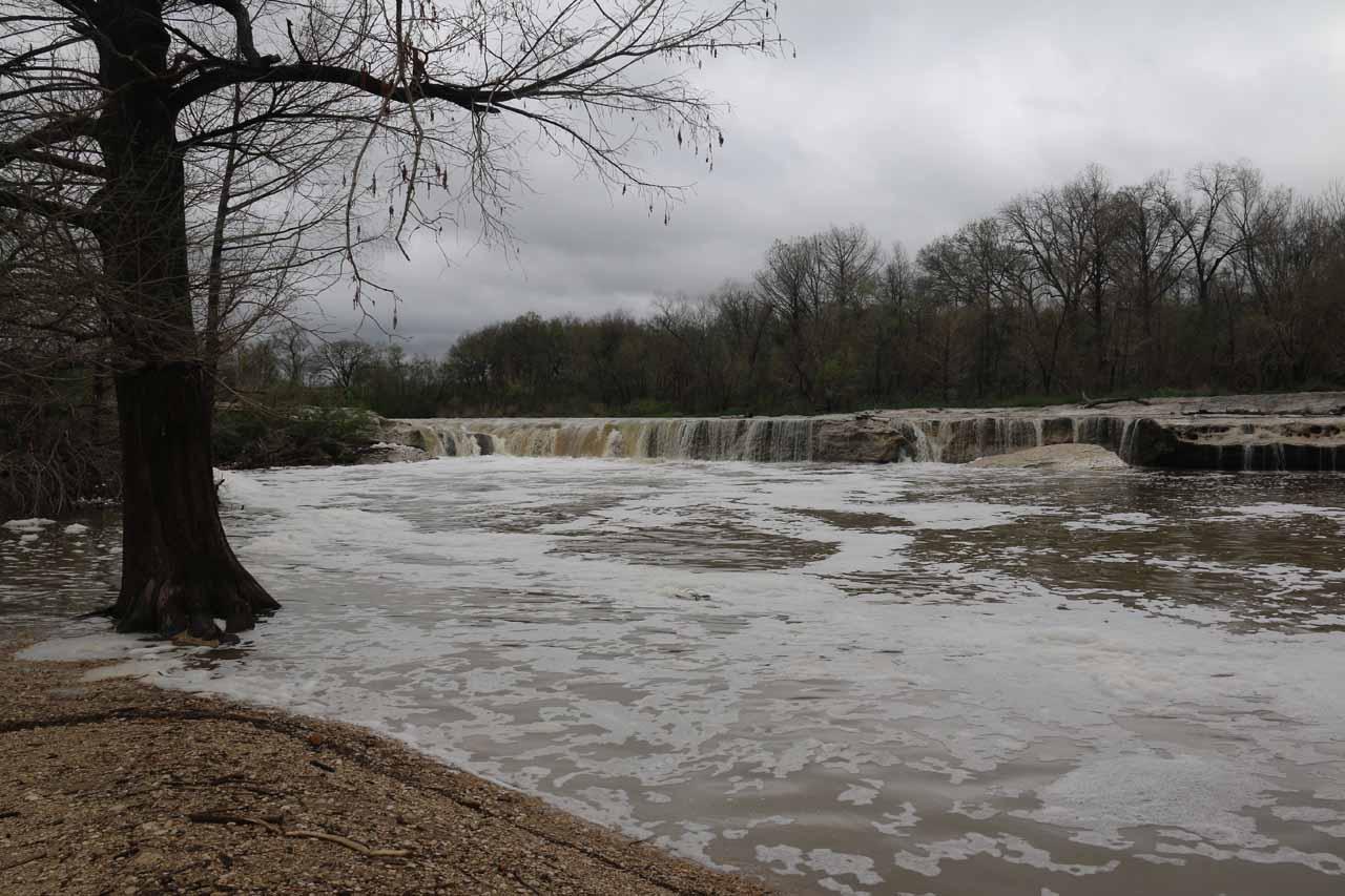 The Lower McKinney Falls in high flow