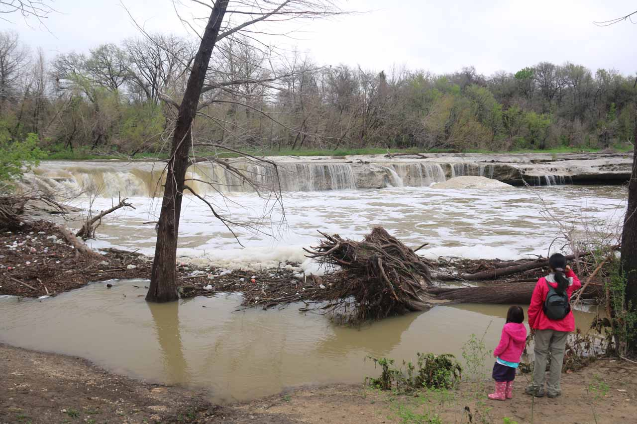 Julie and Tahia checking out the Lower McKinney Falls
