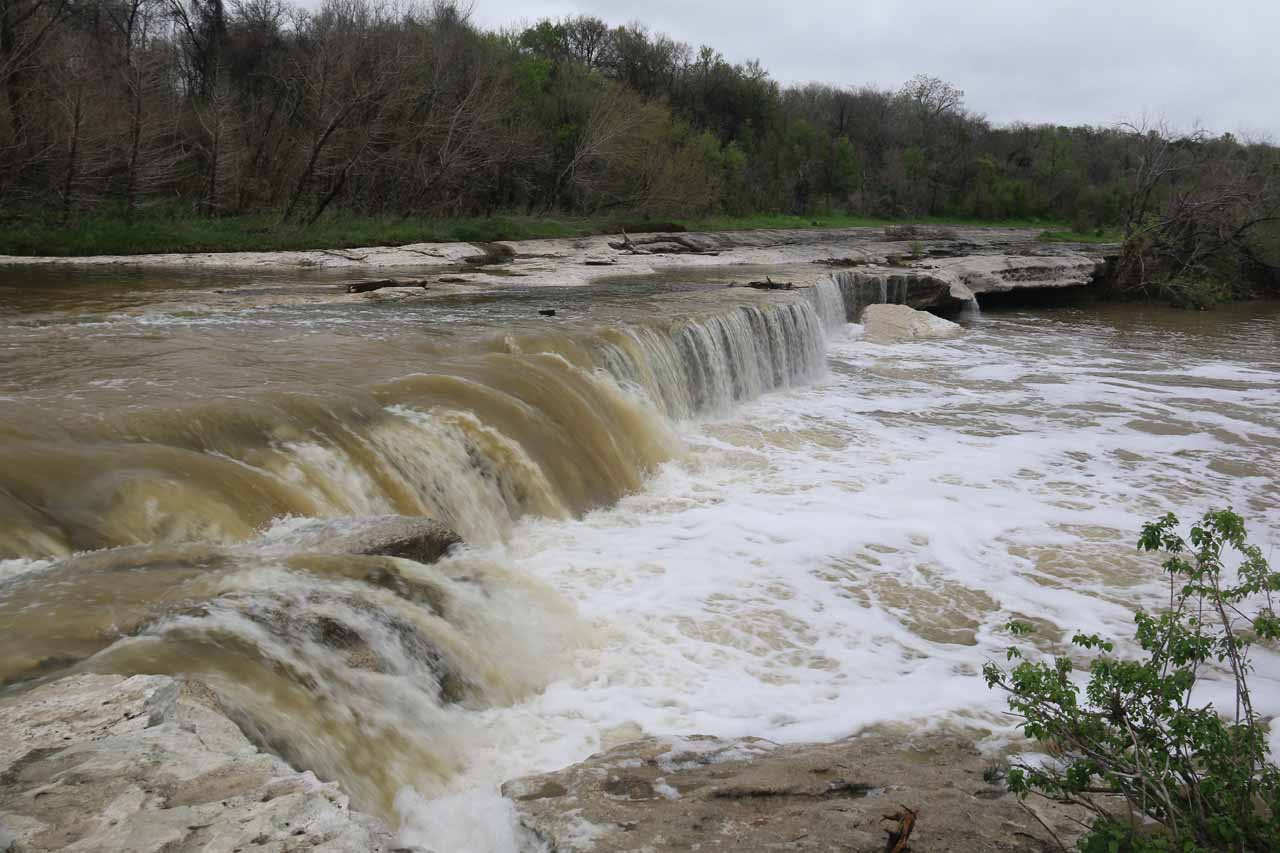 Before joining Tahia and Julie back at the car, I checked out the brink of the Lower McKinney Falls