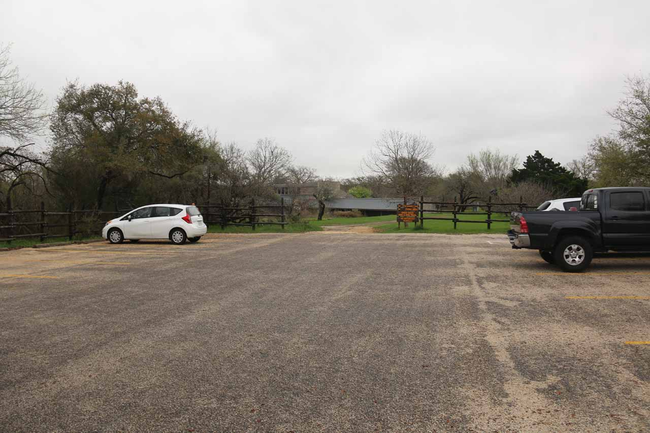 This was the car park for the Smith Visitor Center as well as the Upper McKinney Falls