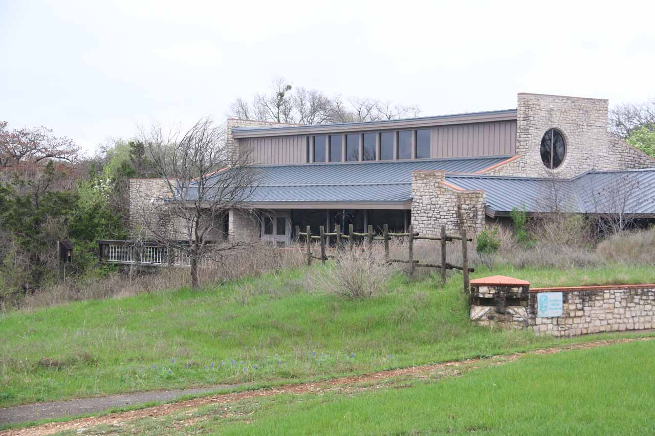 This was the Smith Visitor Center, which was closed for repairs at the time of our visit