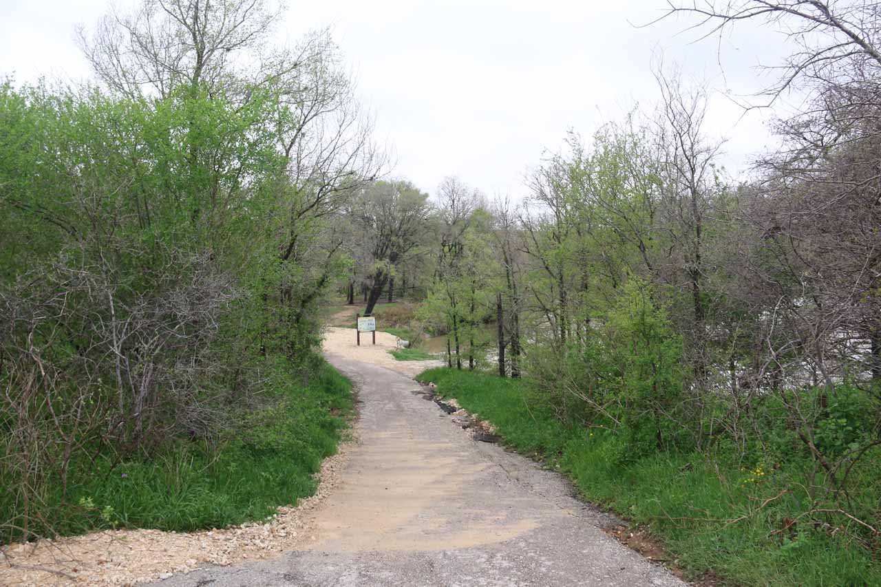 This was the short trail from the Smith Visitor Center area to the brink of the Upper McKinney Falls as well as some picnic tables further upstream
