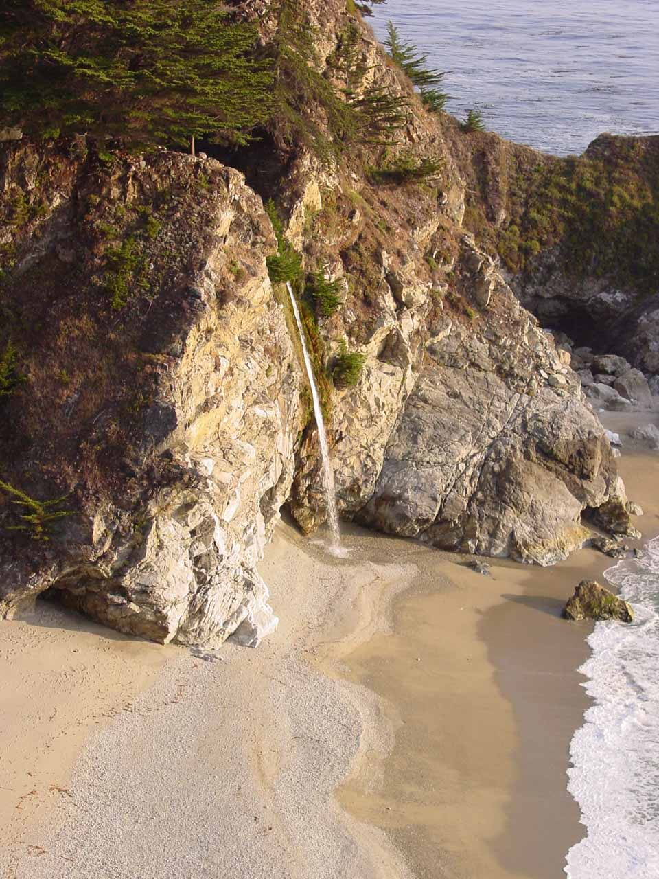 Closeup of McWay Falls from July 2002