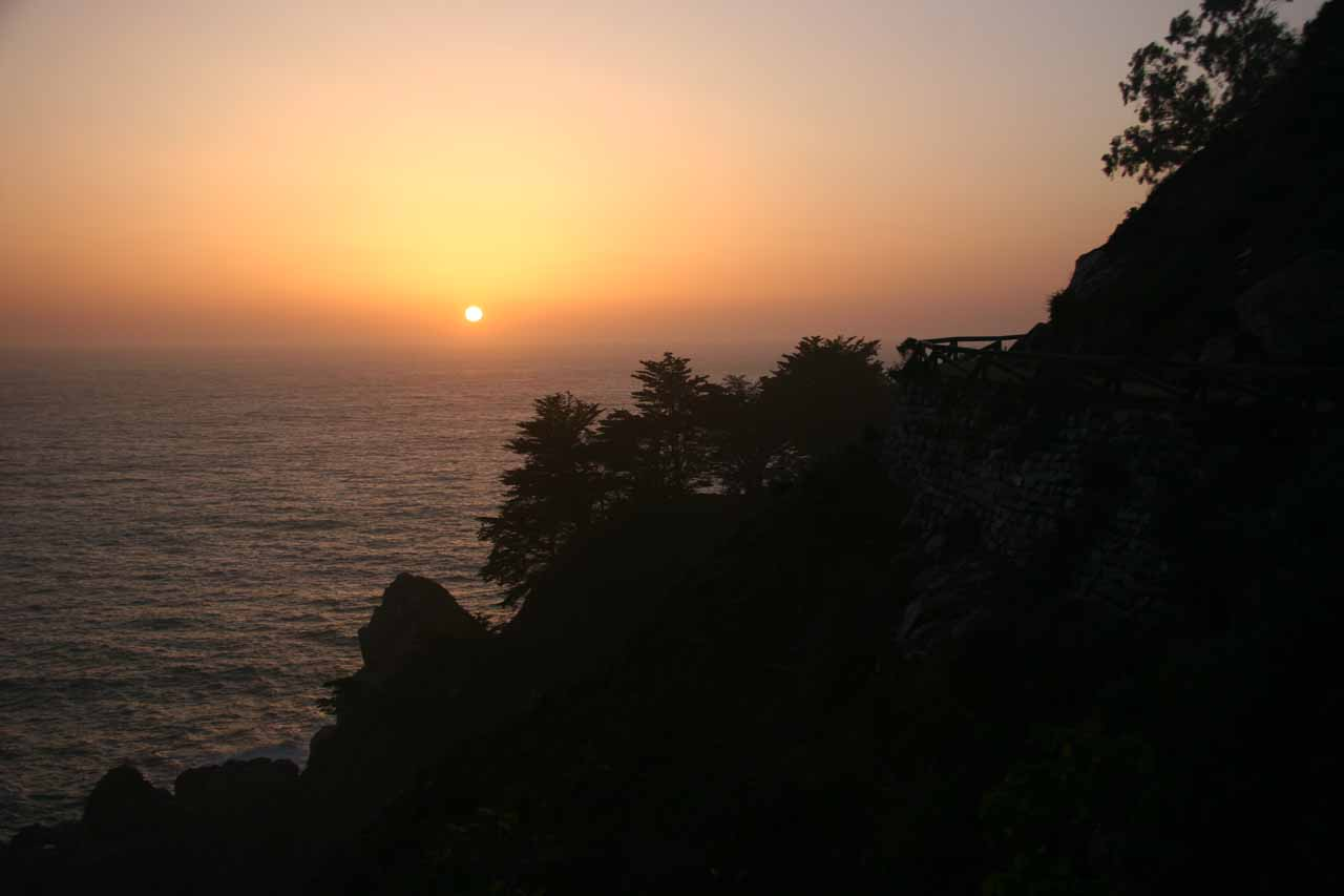 Big Sur sunset at McWay Falls.  Can it get any better than this?