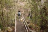 Meetus_Falls_17_028_11252017 - Julie descending the steps leading to the lookout for Meetus Falls during our visit in November 2017