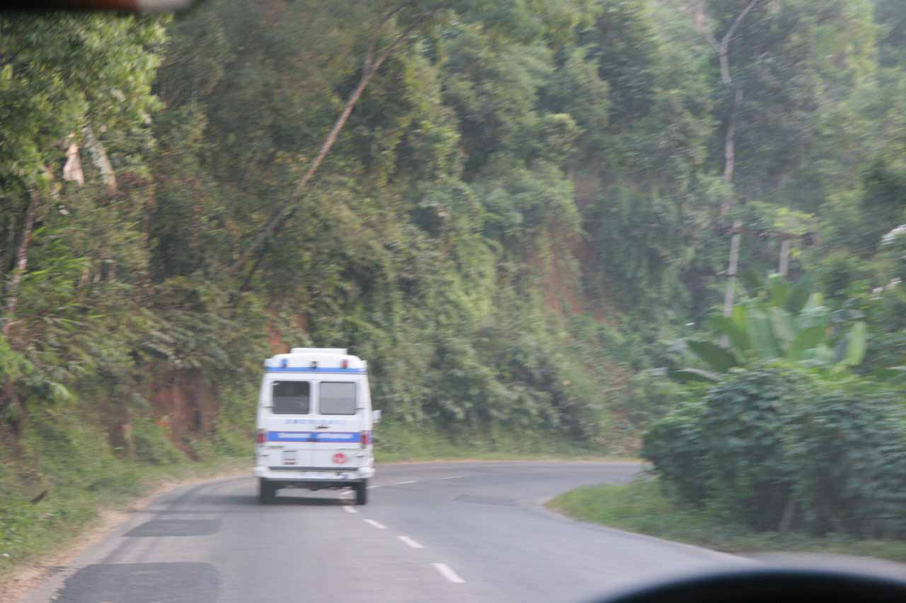 On the road between Guwahati and Shillong