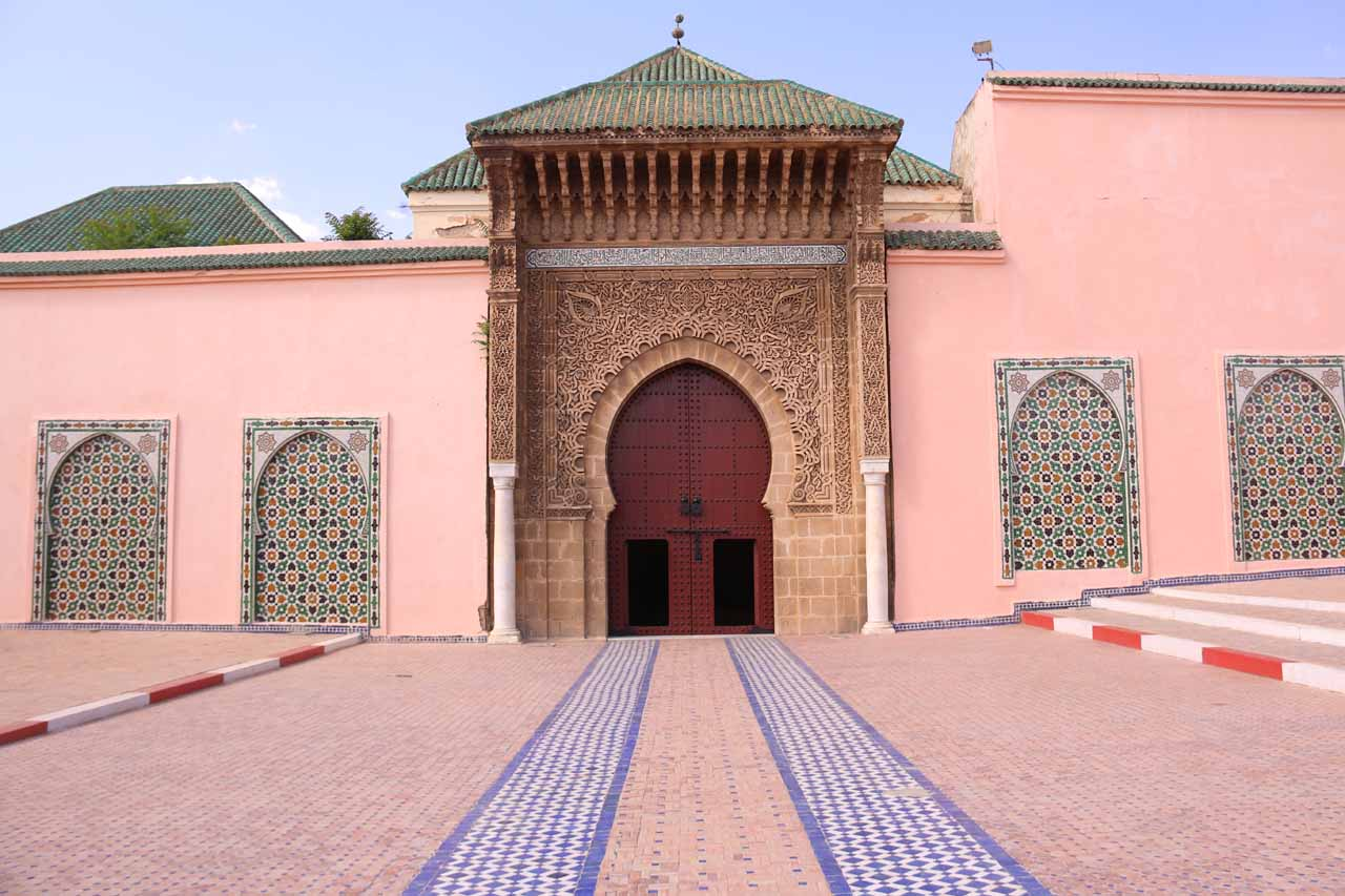 Back outside the Mausoleum of Moulay Idriss
