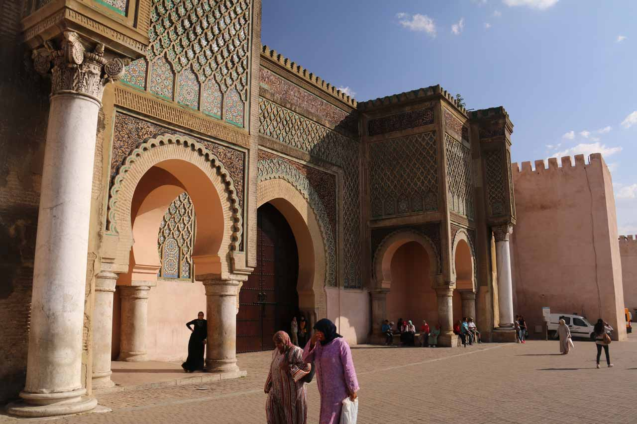 Another look at the impressive Bab Mansour gate in Meknes