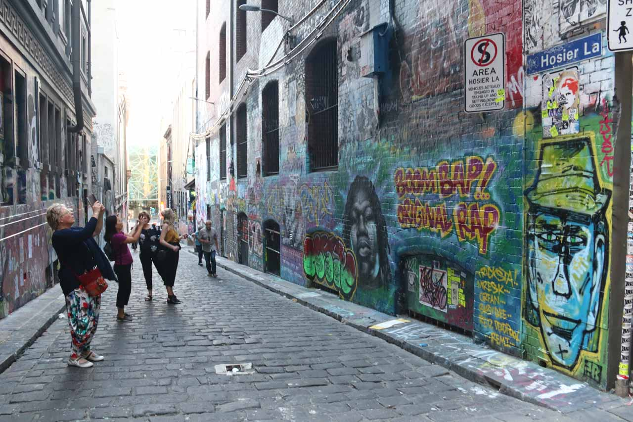 It's not often that graffiti is celebrated, but in some side streets of the Melbourne CBD like Hoosier Lane, that was certainly the case!