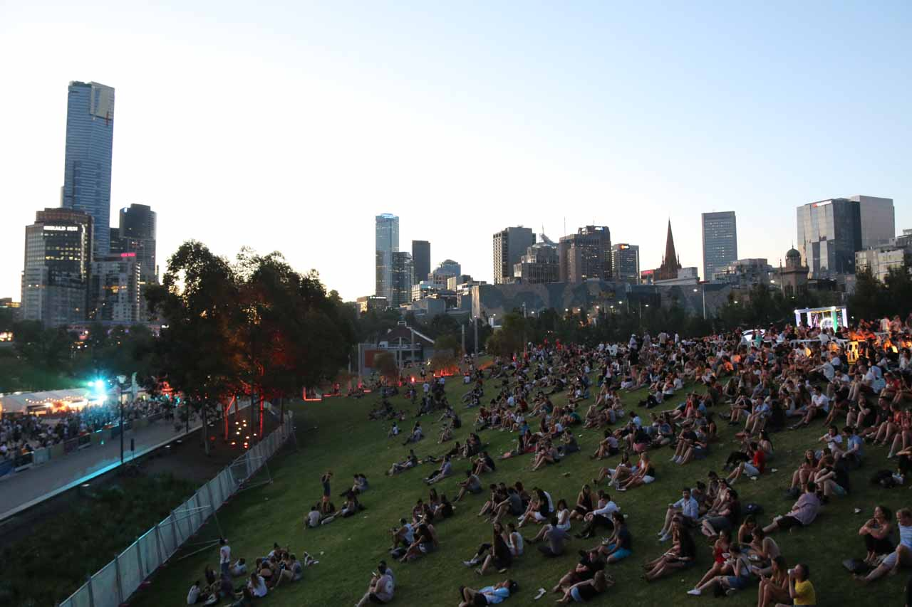 Just under a couple of hours drive to the east of Lorne was the city of Melbourne, which was busy with festivals and events during our visit in November 2017, like the Noodle Night Market shown here