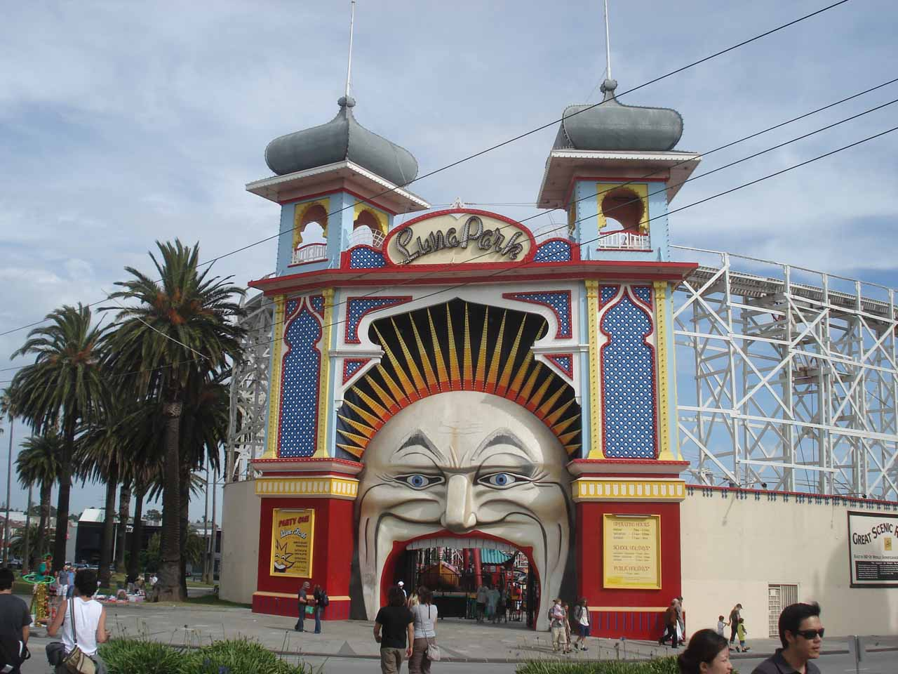 Some amusement park around St Kilda
