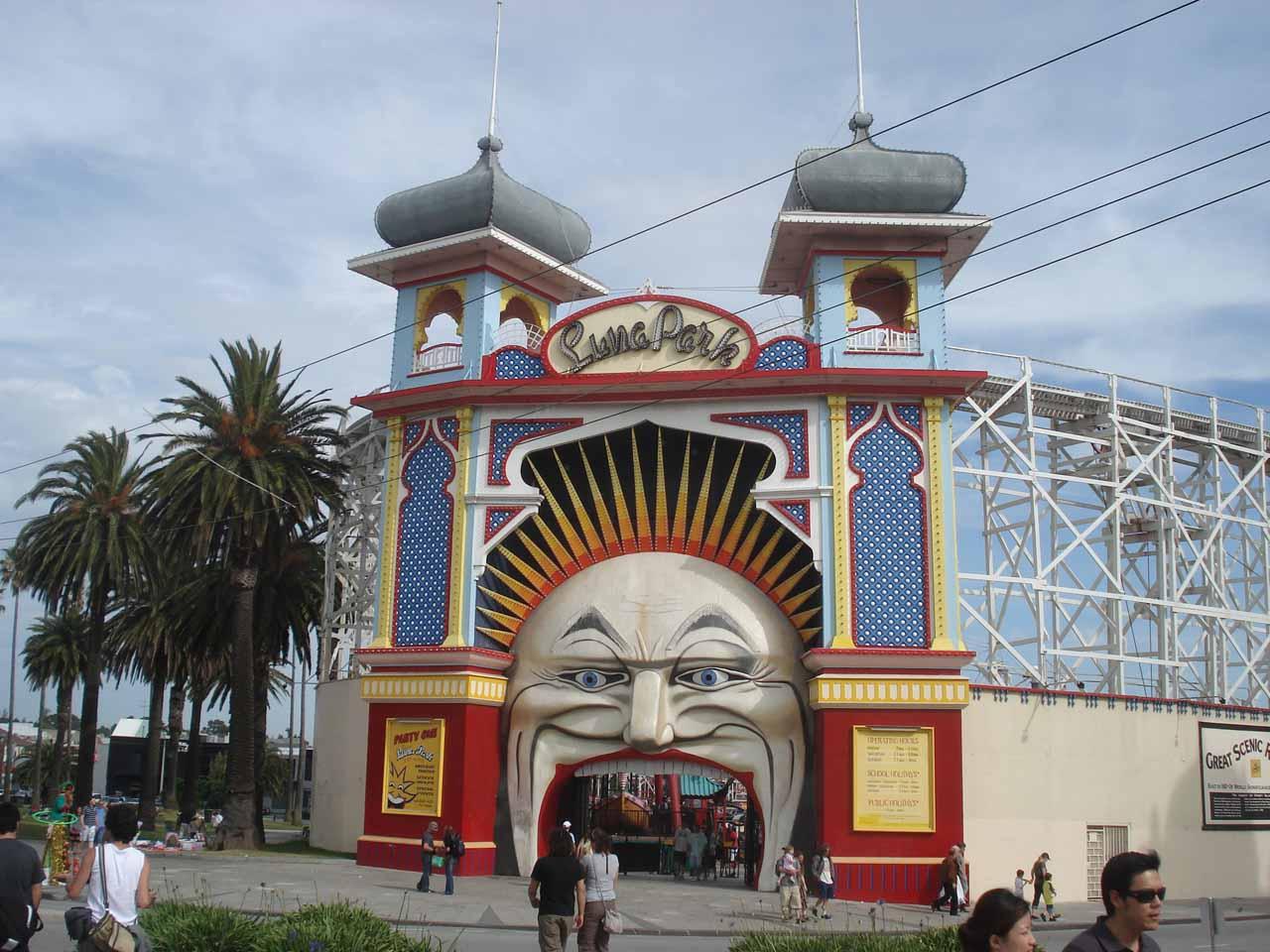 Some amusement park around St Kilda
