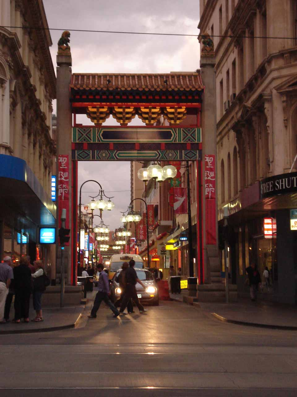 The Chinatown part of Melbourne