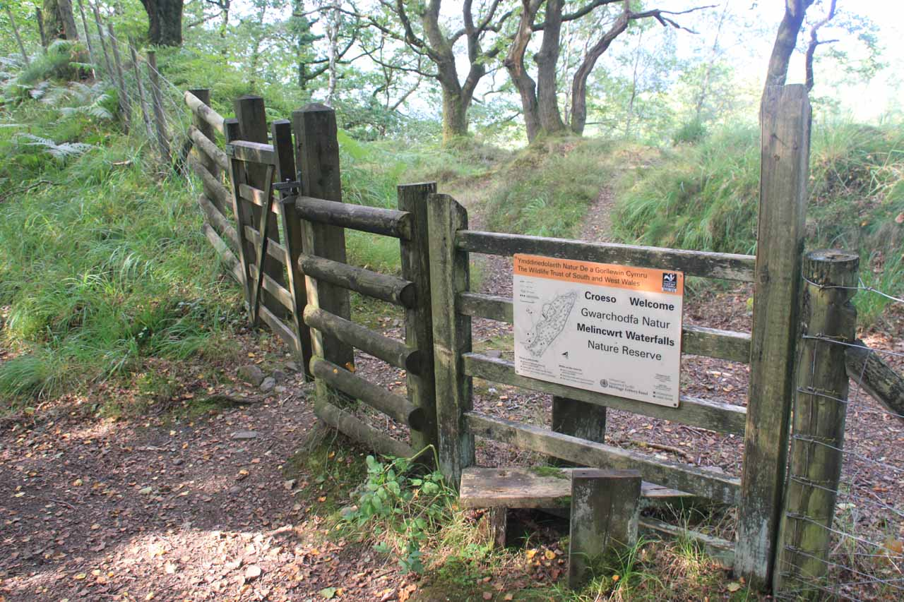 This was the gate on the upper side of the reserve