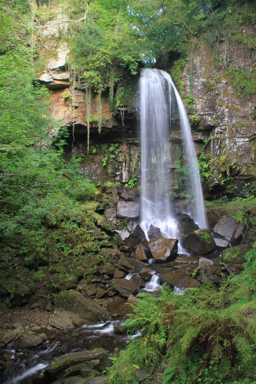 Looking at the front of Melincourt Falls
