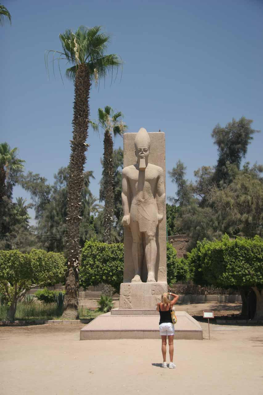 A smaller Ramses statue