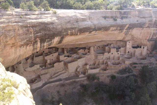 Mesa_Verde_018_04162017 - Apparently, Spring Break was a little early to do the guided tours to get closer to the main Mesa Verde ruins like the Cliff Palace, but we still got a sense of the presence of the Native Americans that managed to figure out how to live in these cliffs