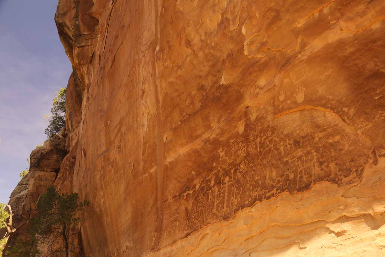 Apparently, Spring Break was a little early to do the guided tours to get closer to the main Mesa Verde ruins like the Cliff Palace, but we did do the self-guided Petroglyphs Trail