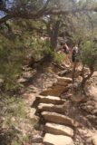 Mesa_Verde_242_04162017 - Ascending the steps to the cliff top along the Petroglyphs Trail in Mesa Verde National Park