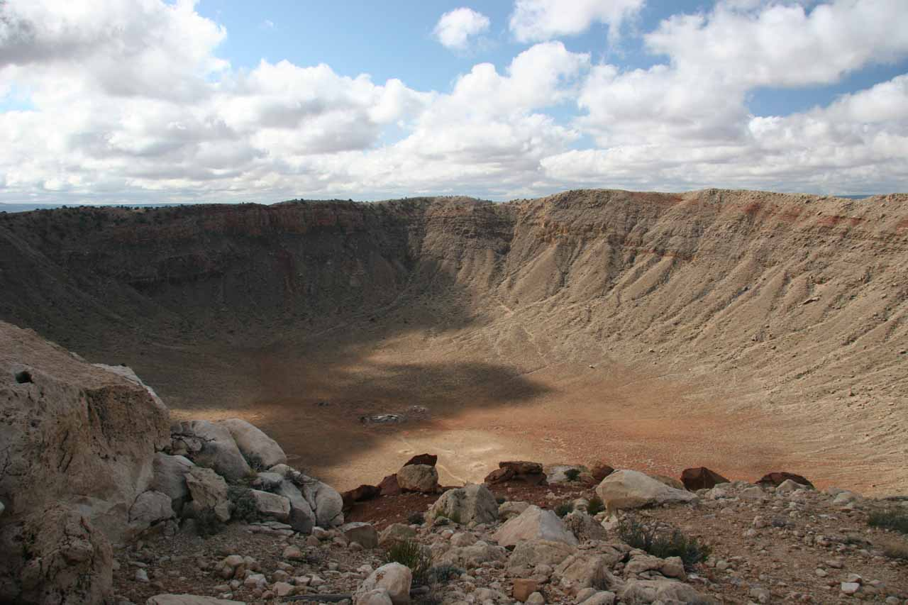 First look directly into the Meteor Crater