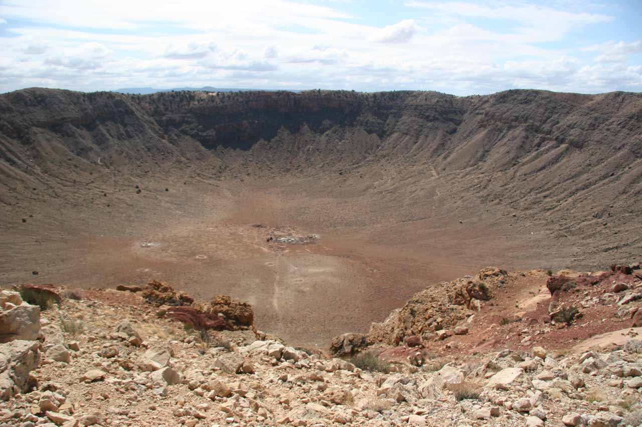 Prior to visiting Grand Falls, we drove further to the east to visit the enigmatic Meteor Crater
