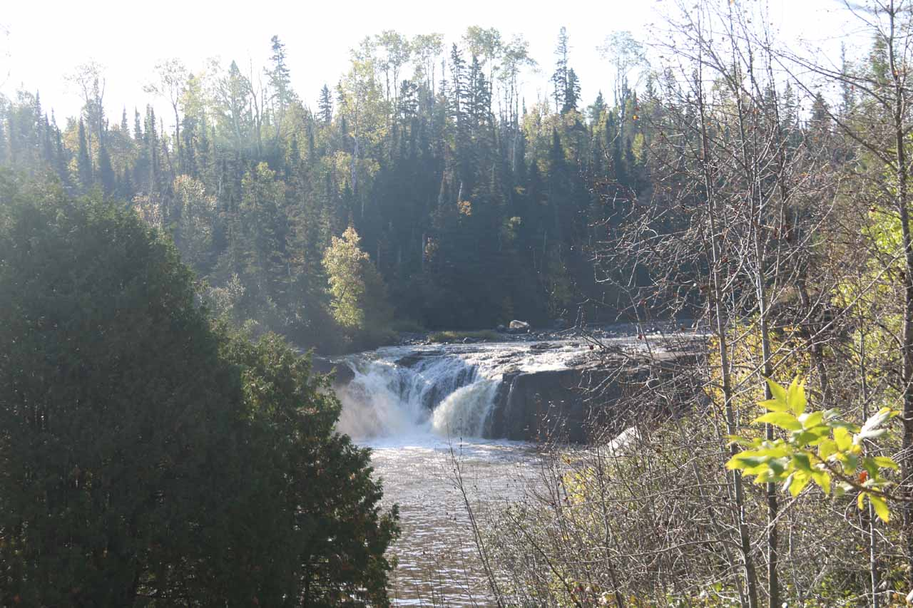 This partial view of the Middle Falls of the Pigeon River was seen as I was approaching the final short descent to the banks of the river