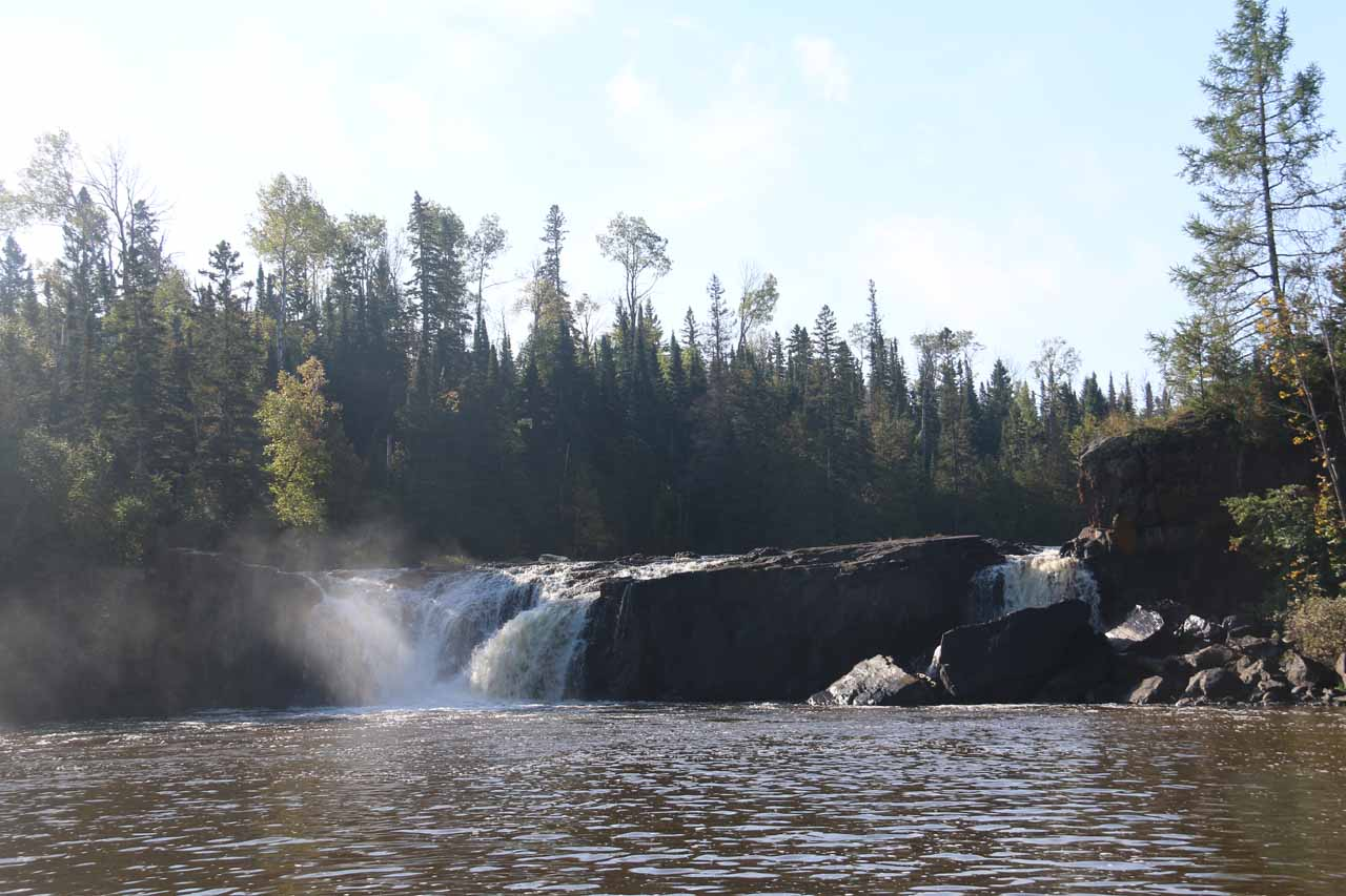 Middle Falls of the Pigeon River viewed from the Canadian side