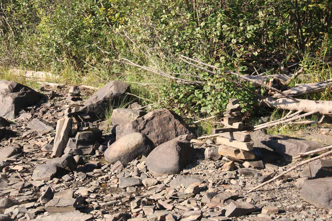 I noticed some stacked rocks from people who had been here before