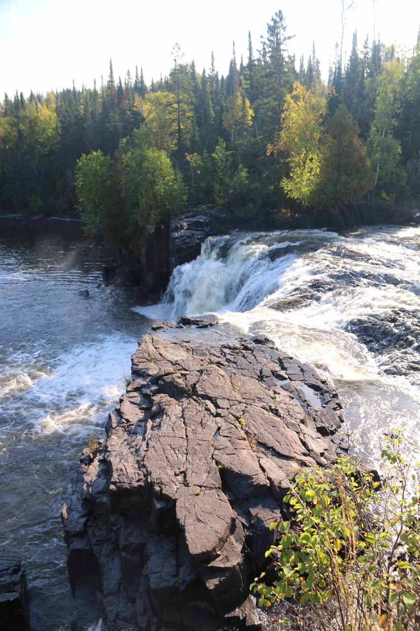 Brink of the Middle Falls of the Pigeon River from the Canadian side