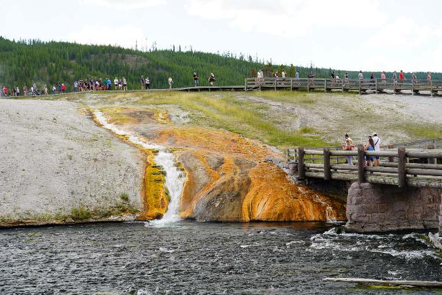 Midway_Geyser_Basin_011_08032020 - One of the thermal runoff cascades draining the Midway Geyser Basin into the Firehole River
