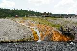 Midway_Geyser_Basin_034_08032020 - Another look back at the nearest thermal runoff segment to the footbridge and boardwalk for the Midway Geyser Basin as seen in August 2020