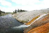 Midway_Geyser_Basin_043_08032020 - Even more severely angled look at the Midway Geyser Basin Runoff from the footbridge in August 2020