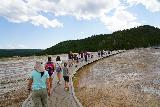 Midway_Geyser_Basin_069_08032020 - Continuing on the Midway Geyser Basin boardwalk towards the Grand Prismatic Spring. As you can see, it was very busy here during our August 2020 visit