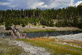 Midway_Geyser_Basin_144_08032020 - Looking back downstream across the Firehole River as we were wrapping up our Midway Geyser Basin visit in August 2020