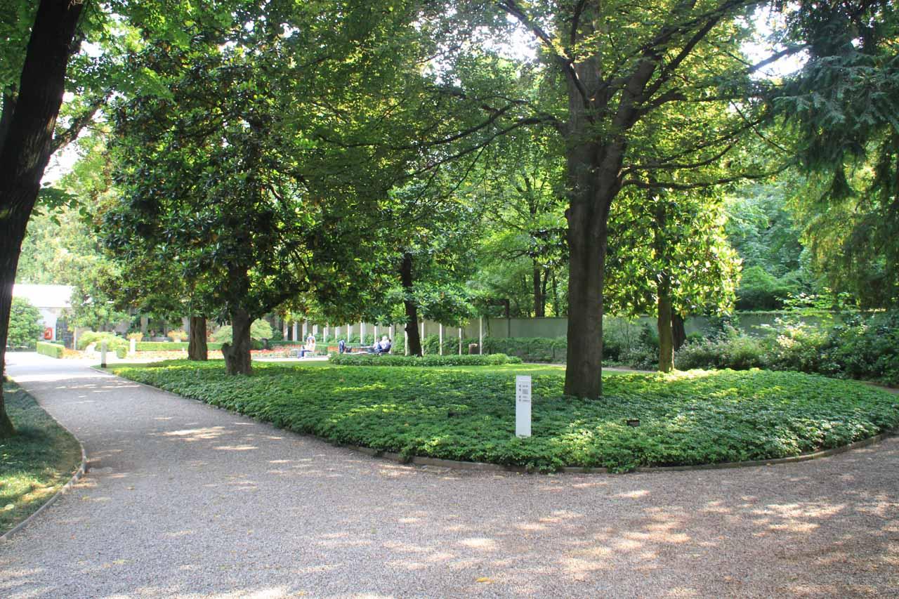At the garden in the Villa Campiglio in Milano