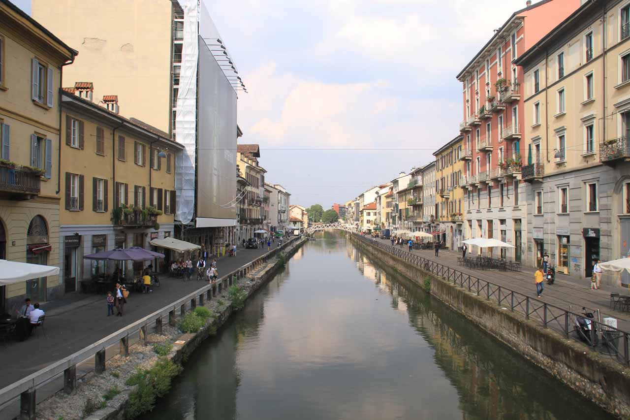 The canal in Milan's Navigli area