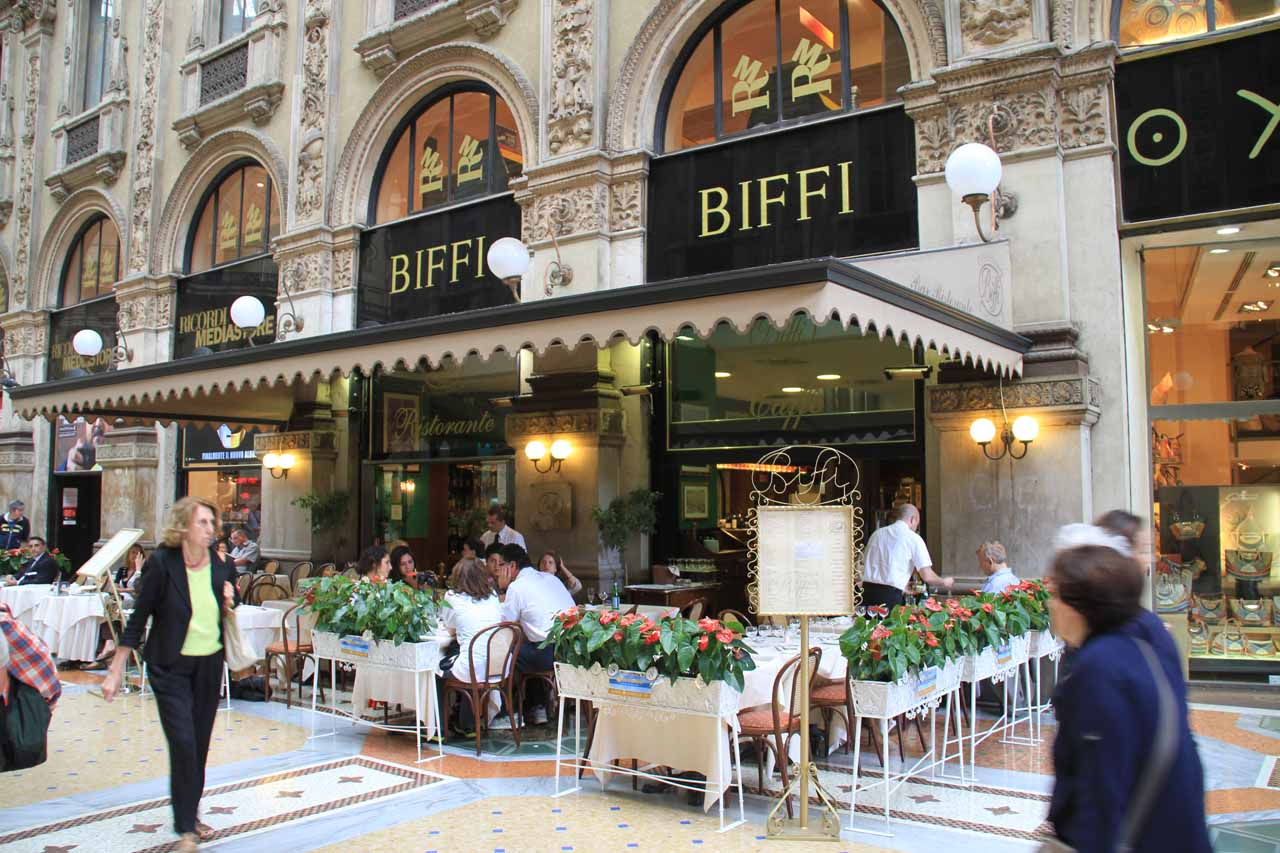 We settled on this place called Biffi inside the Galleria