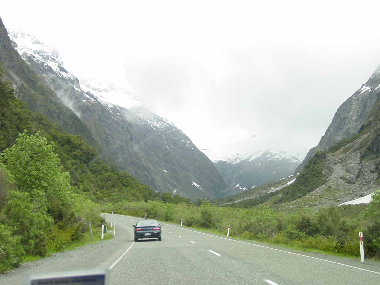 Driving the Milford Sound Highway as we were making our approach towards Christie Falls and eventually the Homer Tunnel