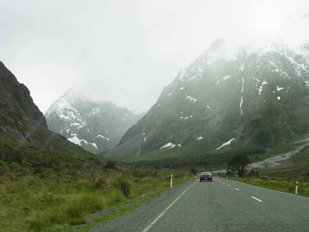 The weather seemed to deteriorate the closer to the Homer Tunnel we went