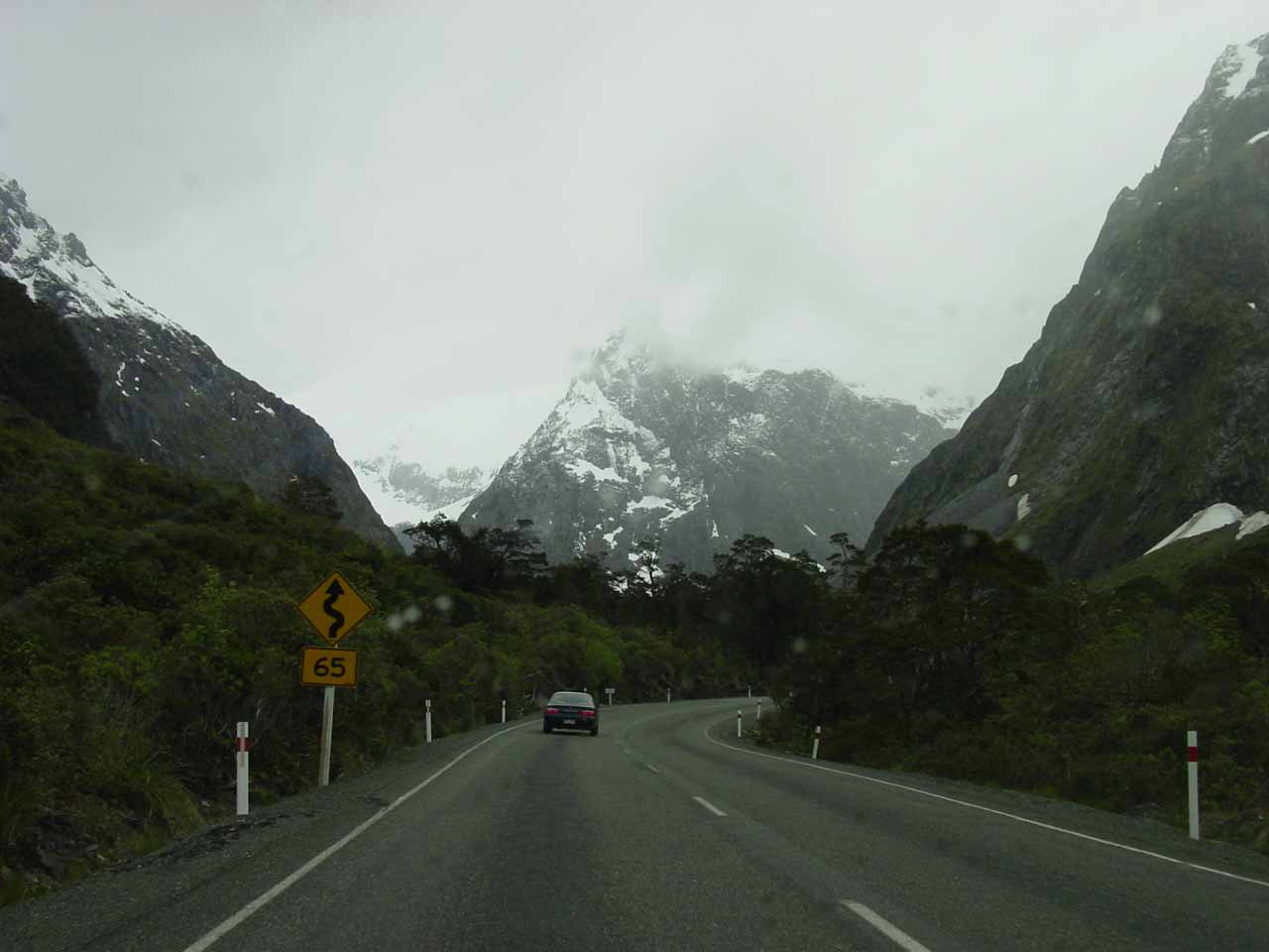 Approaching the east entrance to the Homer Tunnel