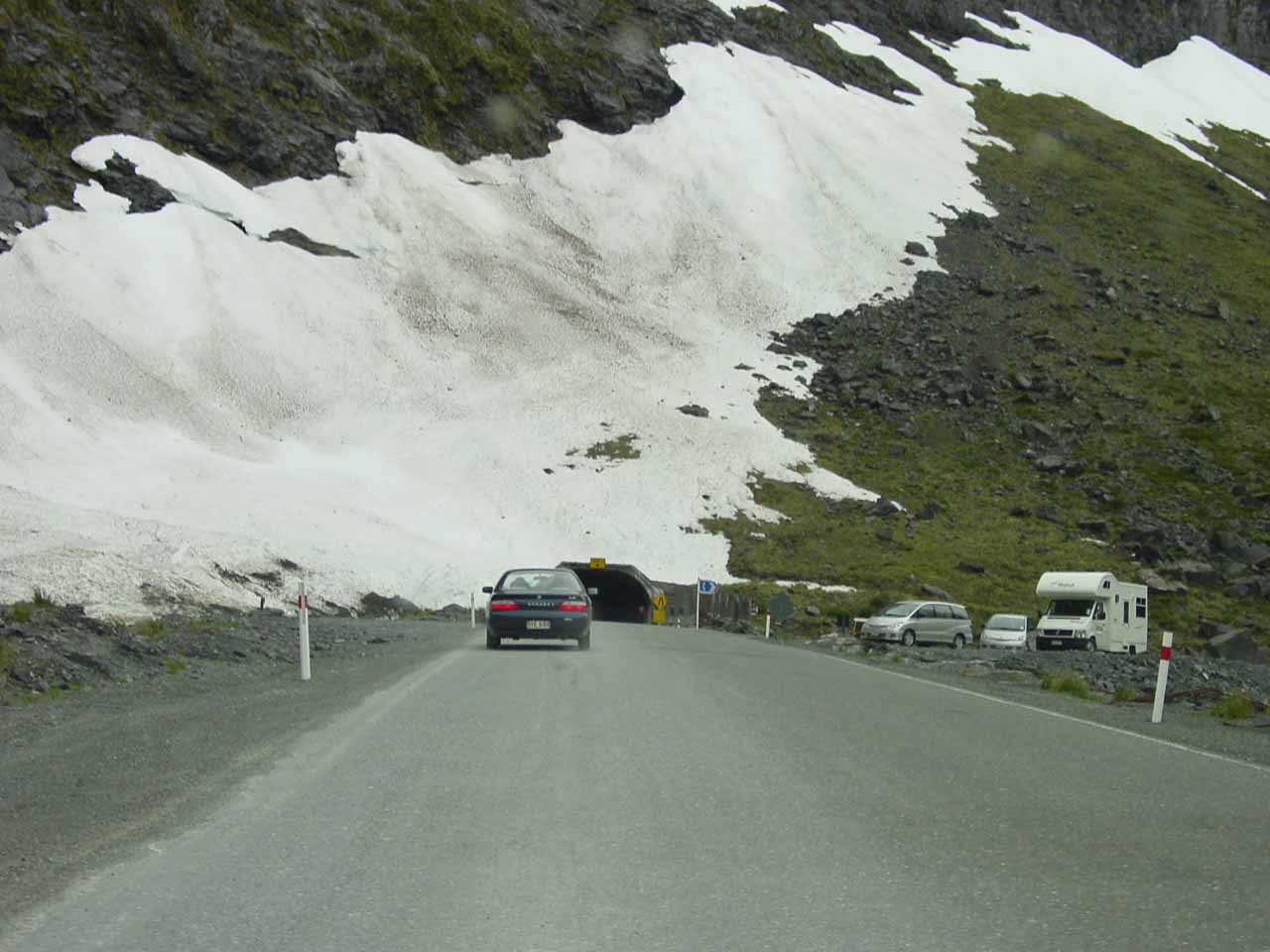 Entering the Homer Tunnel
