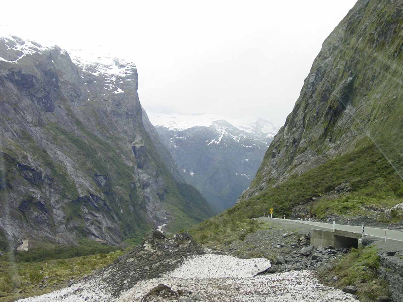 This was the view that greeted us when we left the west side of the Homer Tunnel