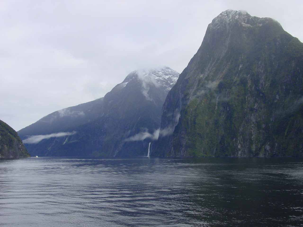 Looking towards Stirling Falls in the distance while on Milford Sound